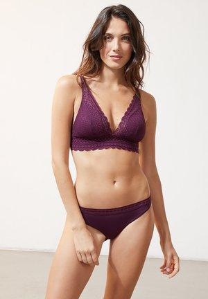 Triangle bra - dark purple