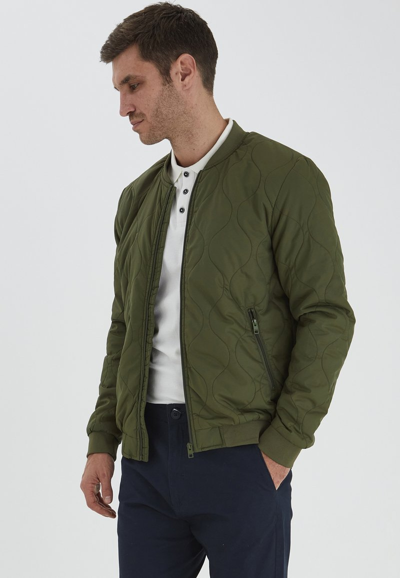 Solid - Giubbotto Bomber - ivy green