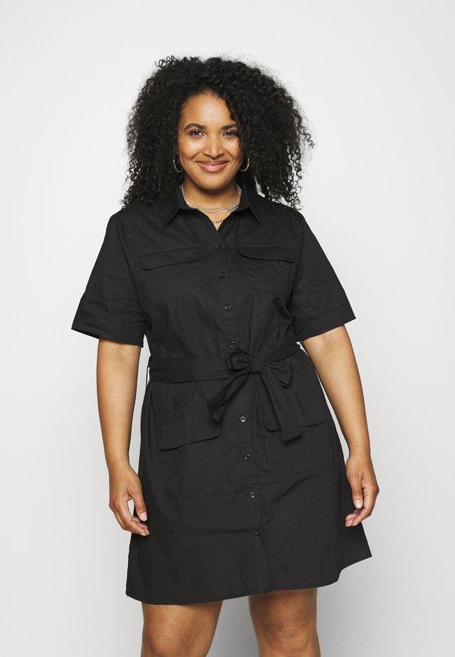 UTILITY POCKET SHIRT DRESS - Abito a camicia - black