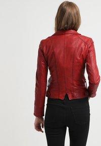 Oakwood - CAMERA - Leather jacket - red - 2