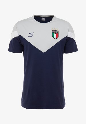 ITALIEN FIGC ICONIC MCS TEE - Nationalmannschaft - peacoat/gray