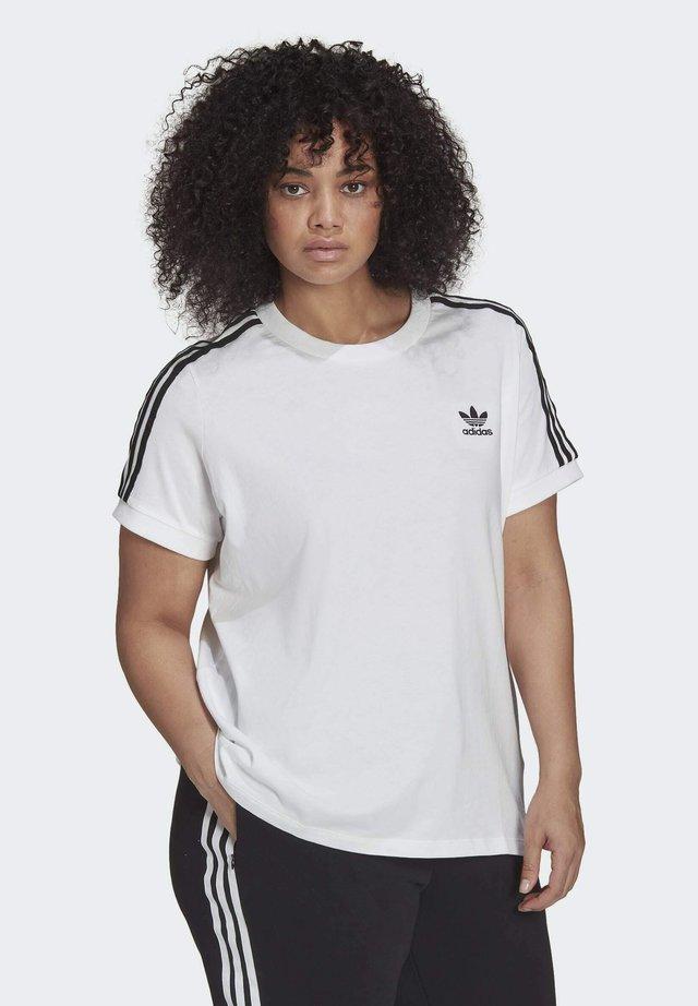 3 STRIPES TEE - Print T-shirt - white