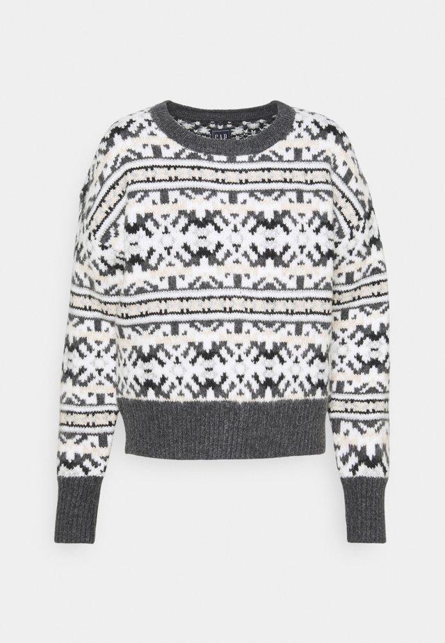 CREW NUETRAL FAIRISLE - Sweter - neutral fairisle print