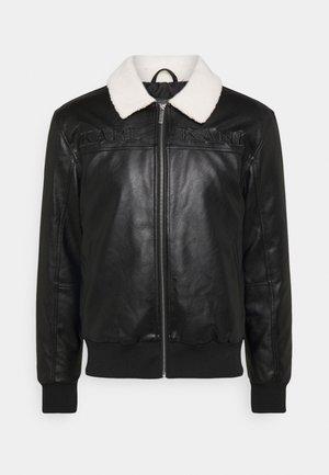 RETRO JACKET - Faux leather jacket - black