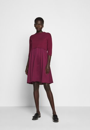 KUENS - Gebreide jurk - plum