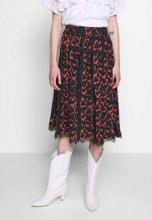 PYTHON - A-line skirt - black