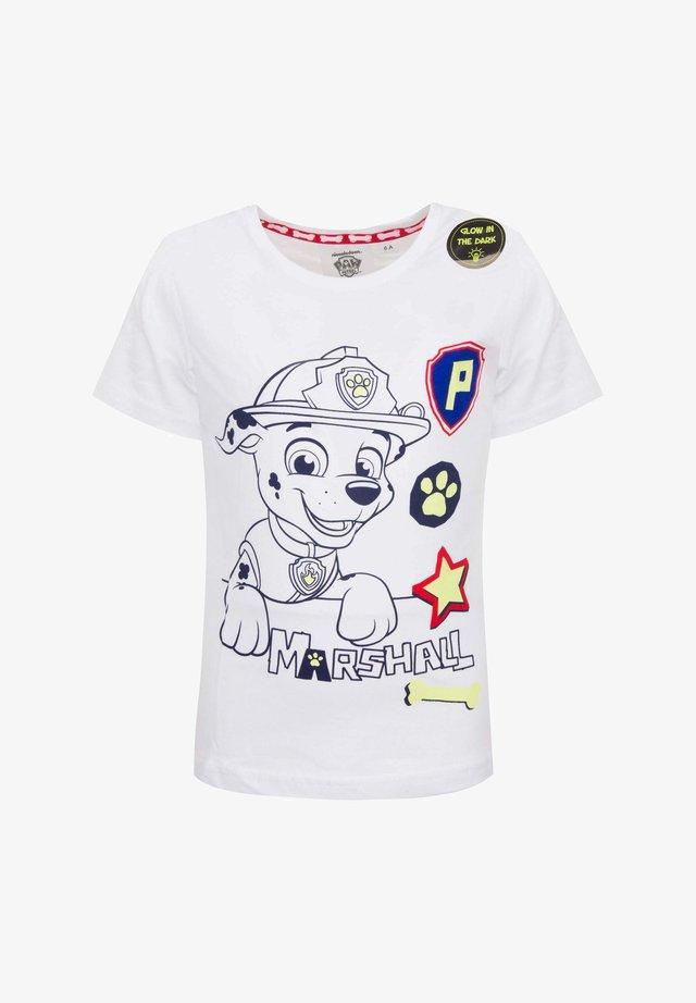 MARSHALL - Print T-shirt - weiß