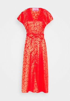 POPPY FIELD JACQUARD DRESS - Vestido informal - red