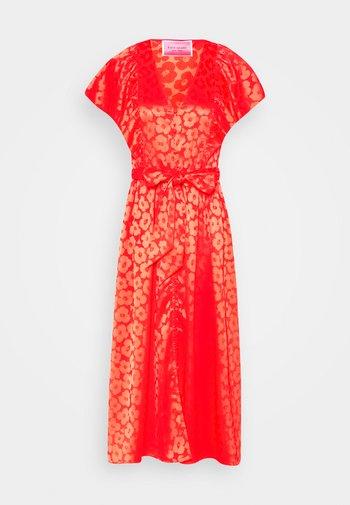 POPPY FIELD JACQUARD DRESS - Day dress - red