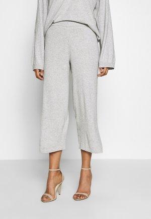 LOTTIELN CULOTTE - Spodnie materiałowe - light grey melange