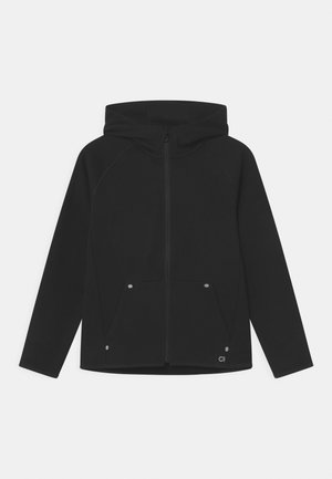 BOY FIT TECH HOOD - Sportovní bunda - true black