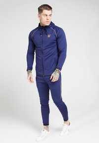 SIKSILK - SCOPE CARTEL ZIP THROUGH HOODIE - Training jacket - navy - 0
