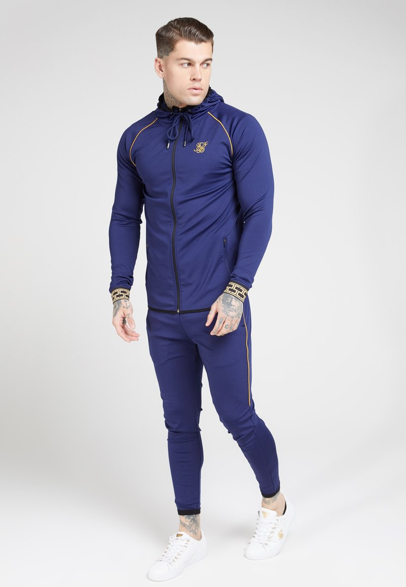SIKSILK - SCOPE CARTEL ZIP THROUGH HOODIE - Training jacket - navy