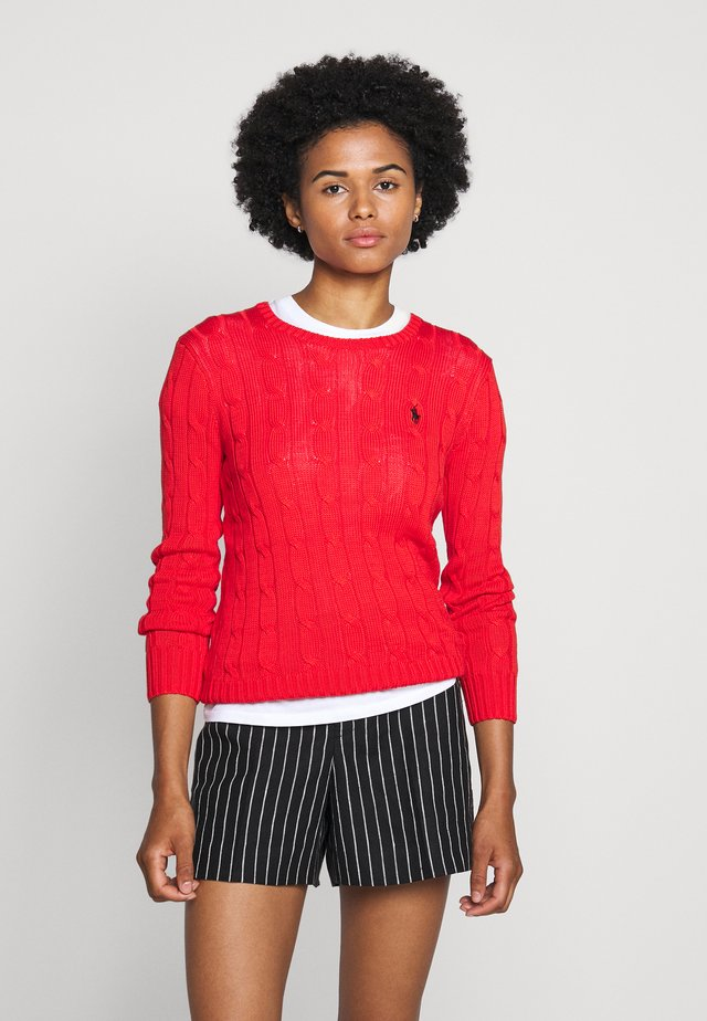 JULIANNA  - Pullover - red/off-white