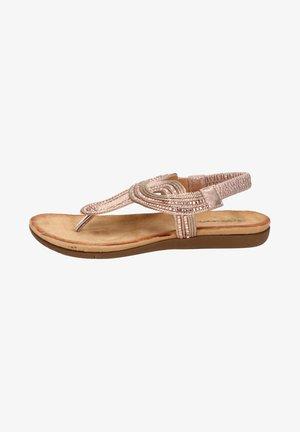 T-bar sandals - rose goud