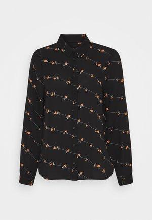 VMBILLIE ZIGGA - Button-down blouse - black/billie