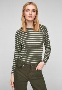 s.Oliver - Jumper - khaki stripes - 0