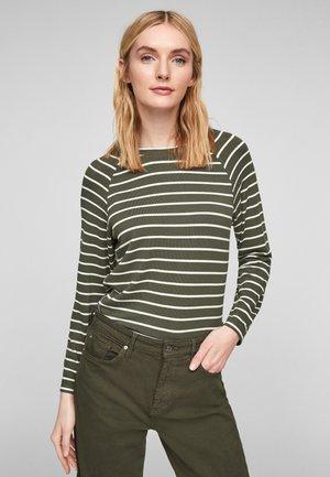 Pullover - khaki stripes