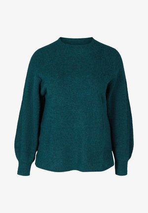 WITH RIB TRIM AND ROUND NECKLINE - Pullover - reflecting pond mel