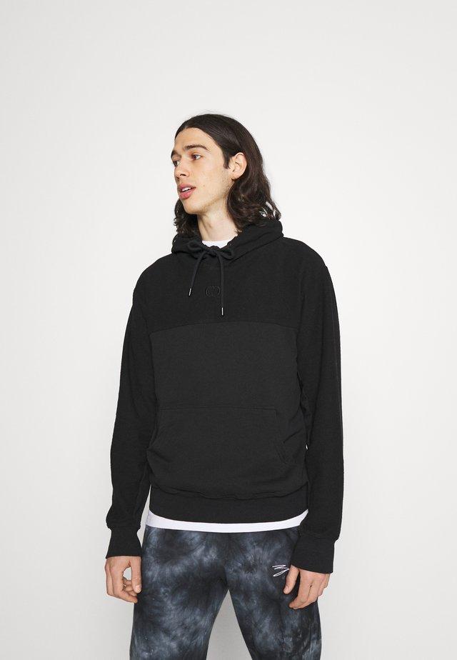 LOOPBACK HOOD - Sweatshirt - black