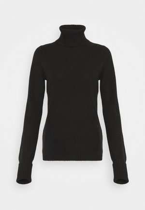 ROLLNECK - Jumper - black tea