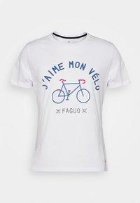 UNISEX ARCY - T-shirt imprimé - white