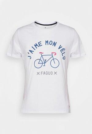 UNISEX ARCY - Camiseta estampada - white