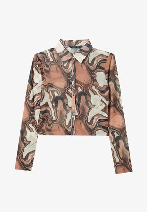TÜLL - Button-down blouse - brown