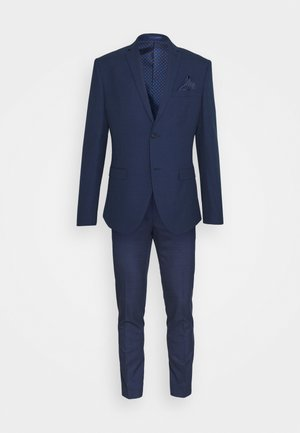 CHECK SUIT - Traje - blue