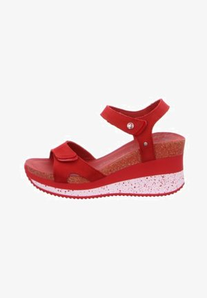 Wedge sandals - rojored