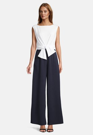MIT WEITEM BEIN - Jumpsuit - dark blue/cream