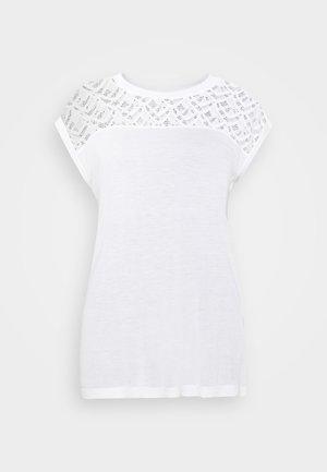 ONLNICOLE MIX - Basic T-shirt - cloud dancer
