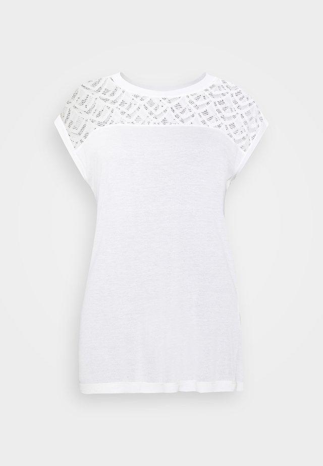 ONLNICOLE MIX - T-shirt basic - cloud dancer