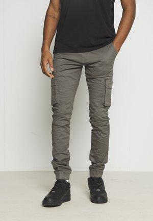 Pantalones cargo - gunmetal