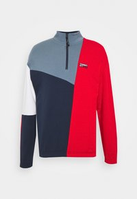 Tommy Jeans - RETRO COLORBLOCK MOCK NECK - Sweatshirt - twilight navy / multi - 0