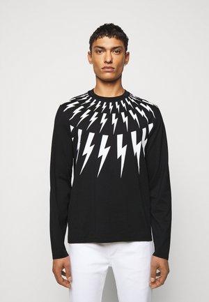 THUNDERBOLT LONG SLEEVE - T-shirt à manches longues - black/white