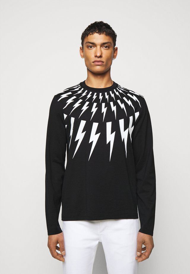 THUNDERBOLT LONG SLEEVE - T-shirt à manches longues - black/white
