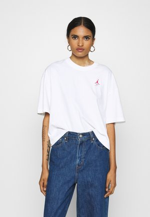 ESSENTIAL BOXY TEE - Print T-shirt - white