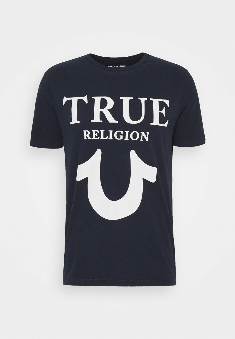 True Religion - CREW NECK BIG HORSESHOE - Triko spotiskem - navy