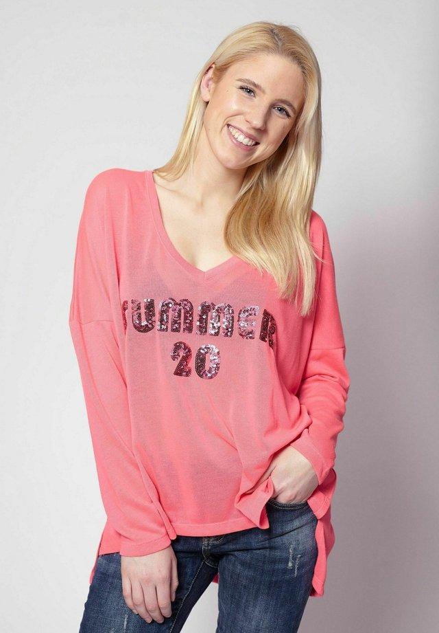 Long sleeved top - pink