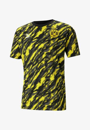 Sportshirt - black cyber yellow