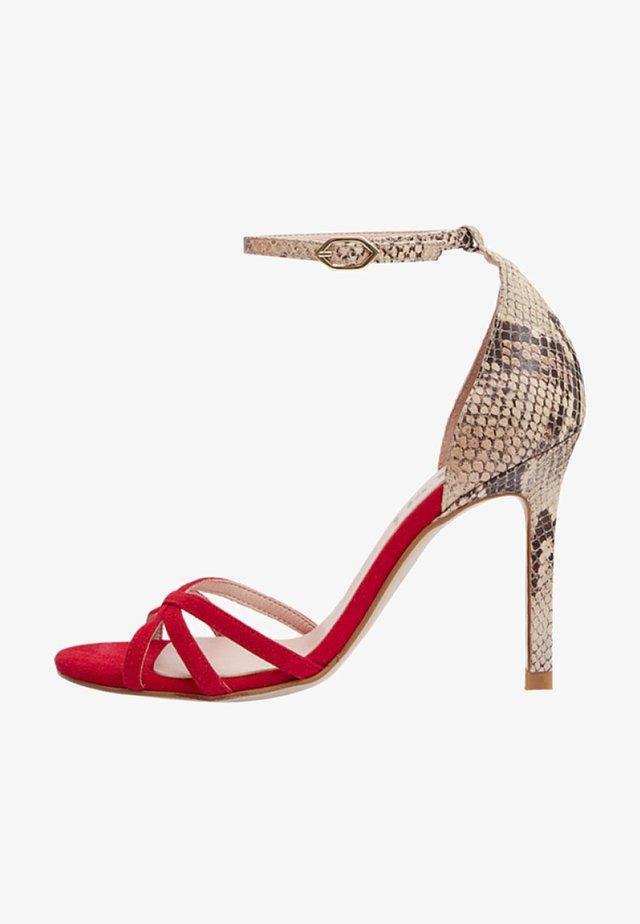 Sandalen met hoge hak - red