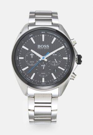 DISTINCT - Chronograph watch - silver-coloured/black