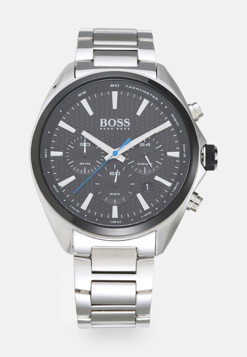 BOSS - DISTINCT - Chronograph watch - silver-coloured/black