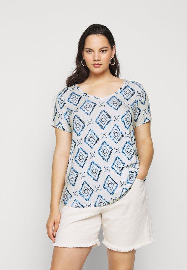 BATIK SHORT SLEEVE - T-shirt imprimé - navy