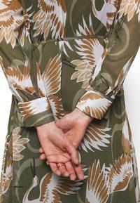 HUGO - ELEKTRA - Shirt dress - olive - 3