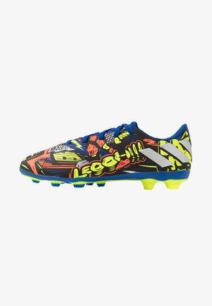 NEMEZIZ MESSI 19.4 FXG - Moulded stud football boots - royal blue/silver metallic/solar yellow