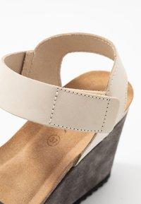 MAHONY - PATTY - High heeled sandals - grey/beige - 2