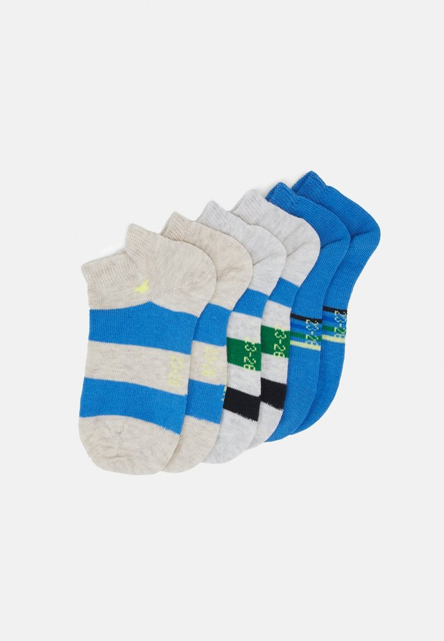 COLORFUL STRIPE SNEAKER 6 PACK - Socks - sea blue