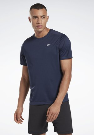 NIGHT RUN SHIRT - T-shirt z nadrukiem - blue